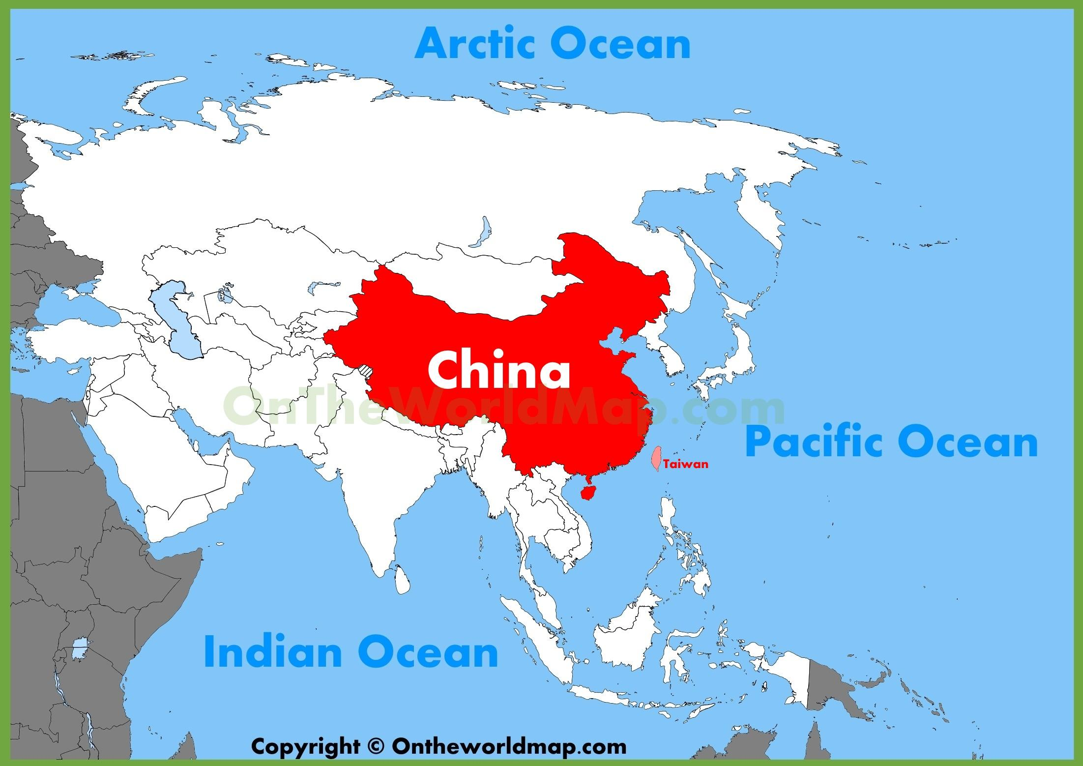 östra asien karta Asien Kina karta   Kina asien karta (Östra asien   Asien) östra asien karta