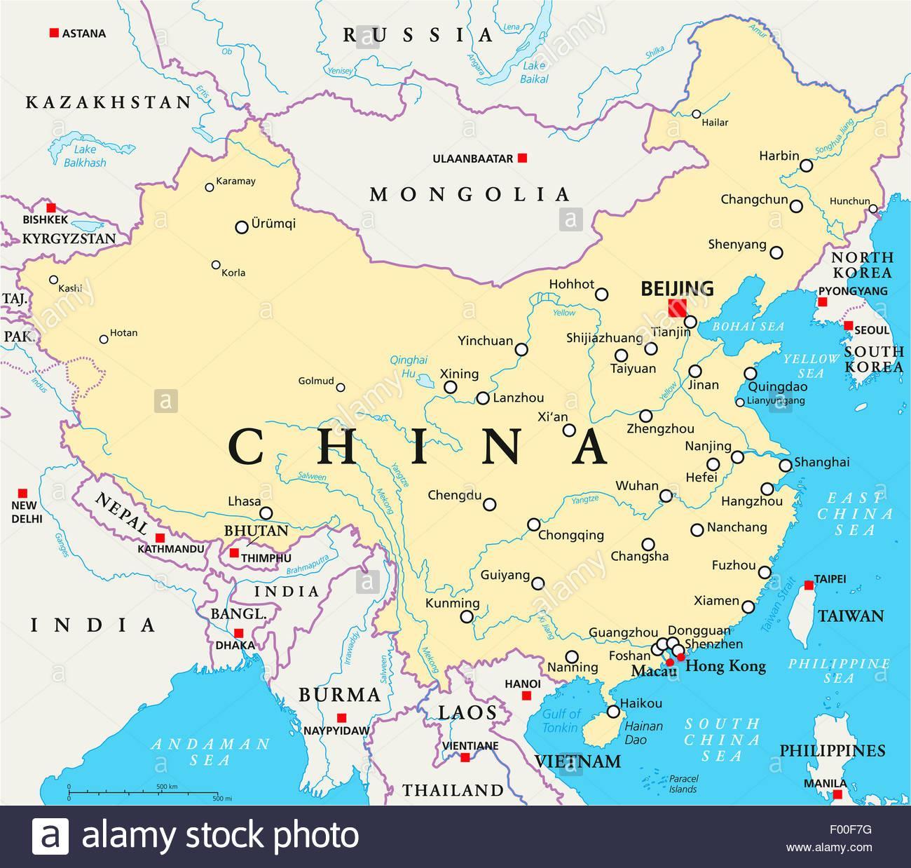 karta kina Floder i Kina karta   Karta Kina floder (Östra asien   Asien) karta kina