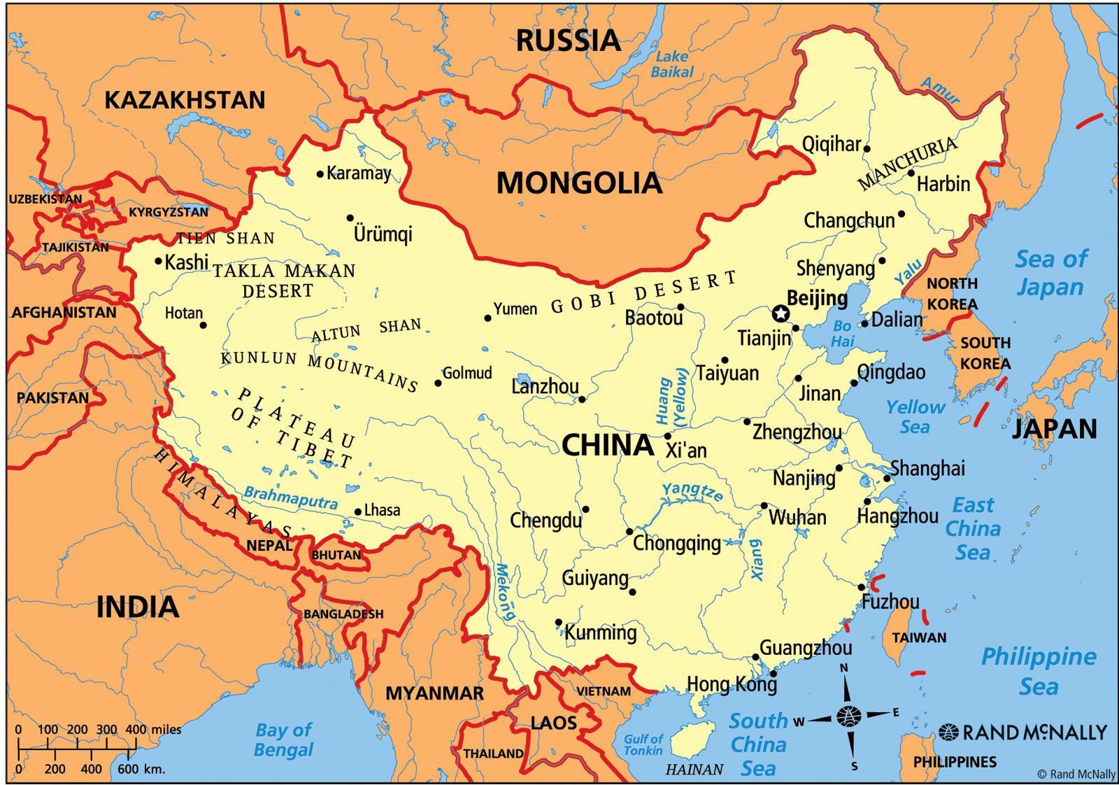 karta kina Kina politiska kartan   Kina karta politiska (Östra asien   Asien) karta kina