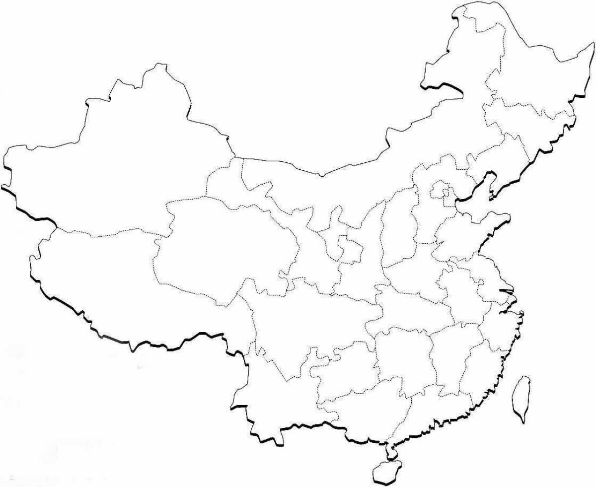 Kina Karta Quiz Karta Over Kina Fragesport Ostra Asien Asien